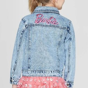 Girls Barbie 60th Anniversary Denim Jacket XL 3003